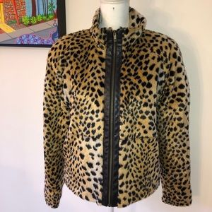 Vintage Panache faux Leather Cheetah Jacket